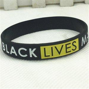 Черный Lives Matter! 20мм Спорт силиконовый ремешок браслет для Samsung Galaxy Часы Активный 2 40мм 44мм Резинки Замена ремня запястья # 65475
