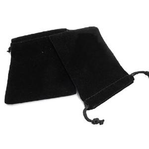 9 * 7cm morbido velluto coulisse Gioielli Pouch Bag bagagli - 10 pc / set (nero)