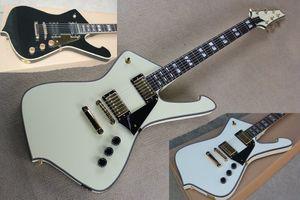 Custom Factory chitarra elettrica con nero Pickguard, hardware oro, tastiera in palissandro, 22 tasti, può essere personalizzato