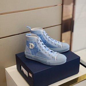 2020 neue Blumen Technische Leinwand B23 High Top Sneakers Low Vintage-Plattform in Oblique Herren B24 Damen Mode Stiefel Freizeitschuhe