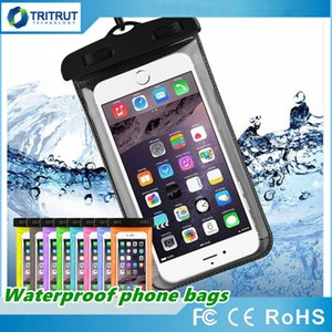 Dry Bag Waterproof case bag PVC universal Phone Bag Pouch With Colors Compass Bags For Diving Swimming smart phones up to 5.8 6.0 inch