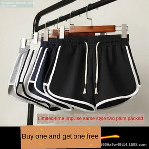 Hot shorts sports women's slim wide leg shorts home pants loose sports pants casual all-match running student stripes