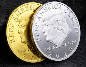2020 Nouvelle collection Trump commémorative de Pièce de monnaie américaine Président Artisanat Badge Souvenir Argent Métal Or Collection badge atout non-monnaie