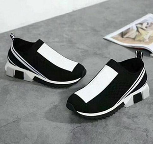 2021 Popular Más Nuevo Diseñador Unisex Menores de Mujeres Sneakers Casual Malla Zapato Amarillo Mujeres Azul Hombres Calcetines Zapatos Botas 35-46