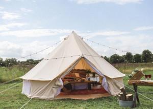 Tent DANCHEL lona de algodão de Bell tipi Waterproof Tent Família com Jacket Fogão na parede Festival Música