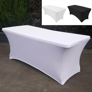Cocktail High Stretch Wedding Hotel Birthday Table Cover Buffet Cloth Table Set Tablecloth Decoration 183*76*74cm Y200421