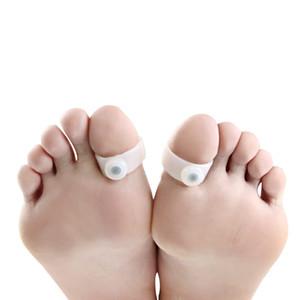 Toe Slim Ring Magnetic Silicone Foot Massage Toe Ring Perdita di peso Dimagrimento Easy Healthy Magic Dimagrante Piedi Cura