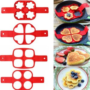 Silicone Fried Egg Ring Maker Non Stick Pancake Maker Strumento di cottura Cheese Egg Pan Flip Eggs Mould Kitchen Baking Accessories
