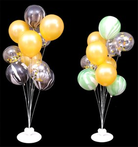Christmas Balloons Column Kit Plastic Balloon Arch Stand With Base And Pole Happy New Year Party Latex Balloons Holder Wedding Other Event