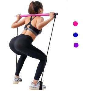 Bande di Pilates Resistenza yoga della fascia di Pull Rods Palestra Body Bar Resistenza addominale per Pilates Exercise Stick Fitness corda Puller
