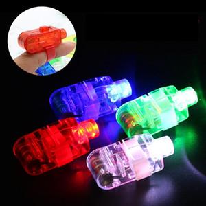 제조사 판매 LED 손가락 램프 LED 손가락 반지를 선물 조명 발광 레이저 손가락 빔 LED 점멸 링 파티 플래시 아이 장난감 4 색