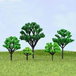 árbol de simulación de arena juguete modelo de mesa edificio paisaje verde paisaje micro pequeños adornos accesorios de decoración suculenta