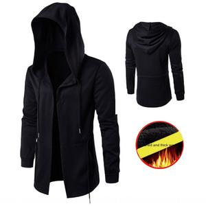 2019 Winter Dark Men's windbreaker medium and long velvet wizard thickened hooded coat JRD045 Cloak cloakWindbreaker cloak
