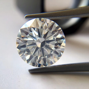0.1CT to 7CT G color FL round brilliant cut moissanite diamond stone test positive lab synthetic diamond with a waist code and certificate