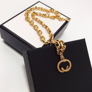 TOP brand Have stamps Golden vintage designer necklace for lady women Party wedding lovers gift engagement luxury jewelry With BOX SS531