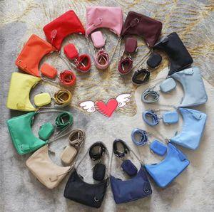 2020 3-Piece Total Color Shoulder Bags High Quality Handbag Fashion Good Match Women Bags Nylon Crossbody New Fashion Women Bag With Box