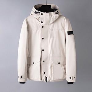 2019 Nova Down Jacket Black White Burb Homens Grande capuz Bbr Outdoor Moda Waterproof Botão Grosso Jackets Magro Parkas