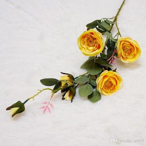 Fotografia Fiore artificiale Matrimonio romantico Fiori finti Decorazione della casa Happy Tea Rose Più colori Cloth Hot Sales 6 6mtC1