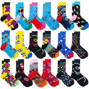 Erkekler Çorap Pamuk Komik Ekip Karikatür Hayvan Meyve Kadın Çorap Yenilik Hediye Çorap Sonbahar Kış Avokado 2 adet = 1 pairs