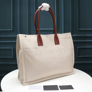 Kadın çanta Rive Gauche Tote alışveriş çantası çanta yüksek kaliteli moda keten Büyük Plaj çantaları lüks tasarımcı seyahat çantası