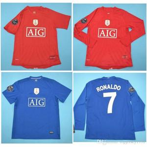 Top 08 09 RONALDO retro jerseys SCHOLES fútbol clásico de la vendimia Jersey 2008 2009 ROONEY camiseta de fútbol GIGGS maillot de pie