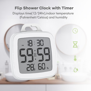 Waterproof Digital Kitchen Timer For Cooking Shower Stopwatch Alarm Clock Electronic Cooking Countdown Touch Timer