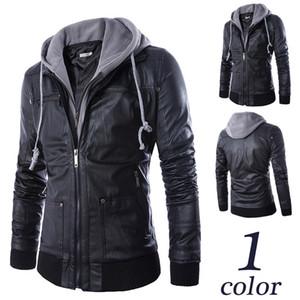 2020 Summer men's designer jacket cotton stripe stitching perfect details slim hooded fake one men's motorcycle leather jacket wholesale