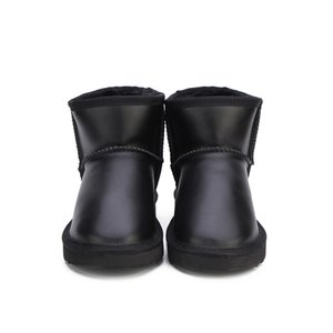 Vendita calda-2019 MBR FORCE Stivali invernali in vera pelle di pelliccia impermeabile Stivali da donna in lana calda Stivali da neve classici Scarpe da donna Scarpe da donna alla caviglia