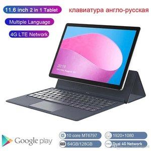 K20-S global versão 2 em 1 Tablet PC 4G portátil de 11,6 polegadas Android com teclado MT6797 Crianças Tablet GPS Ultrabook