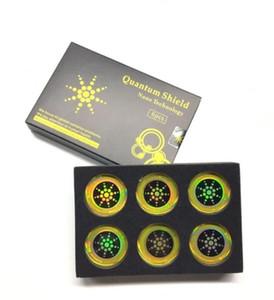 6pcs / embalar Telefone Escudo Quantum Etiqueta Móvel Etiqueta Para Celular Anti Radiação Proteção contra EMF Fusão Excel Anti-Radiação