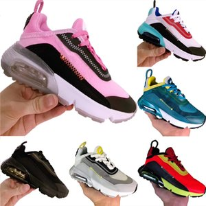 With Box 2020 Kids 2090 Net Gauze Breathable Running Shoe Original 2090 FK Buffer Rubber Built_in Zoom Air Cushioning Jogger Sneakers