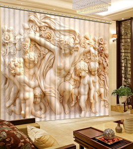 Holy doll Luxury 3D Window Curtain Living Room wedding bedroom Cortina Drapes Customized size