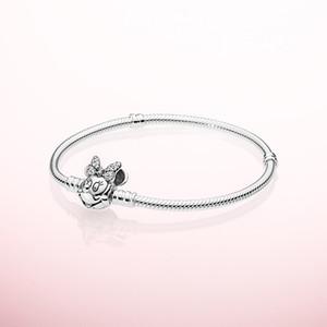 925 Conjuntos de brazaletes de cadena de mano de plata esterlina Caja original para Pandora Retrato Broche pulsera del encanto Mujeres Niñas joyería de lujo del diseñador