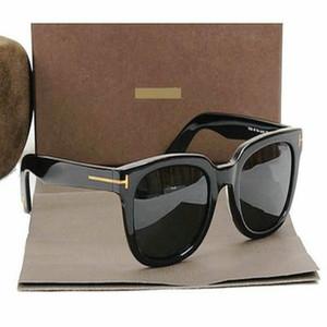 2018 Роскошные высокие качества Новая мода TF211 Солнцезащитные очки Tom Goggle для мужчин и женщин Erika Eyewear ford Дизайнерский бренд солнцезащитные очки @ 875