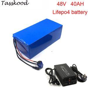 Impostos Sem 48v 40Ah LiFePO4 ebike bateria com 48v 40Ah LiFePO4 bateria para 48v 2000w bicicleta elétrica bateria + 5a carregador