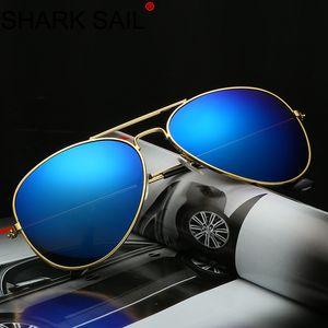 SHARK SAIL 2020 Classic Colorful Sunglasses 3025 Metal Frame Sunglasses Color Film Sun Glasses 3026