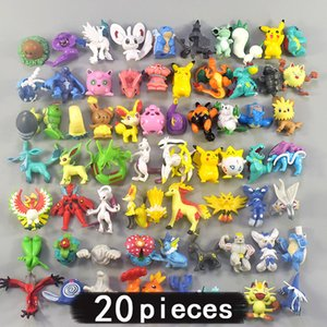 20 pieces 4cm Middle Size All Different Kinds Action Toy Figures Model Toys Collection for Children Gift