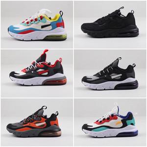 Nike air max 270 Zapatos para niños 2019 zapatos atléticos de los niños Baloncesto lobo gris niño de las zapatillas de deporte de la muchacha del muchacho del niño Chaussures
