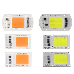 COB chip LED a spettro completo bianco caldo bianco AC220V / 110V pianta coltiva la luce 20W 30W 50W LED proiettore lampada modulo 380-840nm CRESTECH