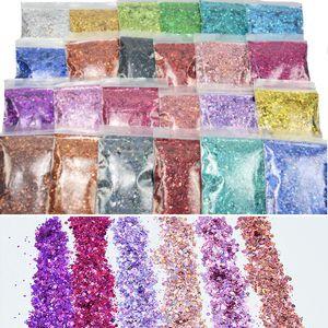 Коренастый голографический блеск 100g Упаковка В мешок Face / Body / Eye / Nail Фестиваль Коренастый Алюминий блестит для 3D Nail Art Decoration