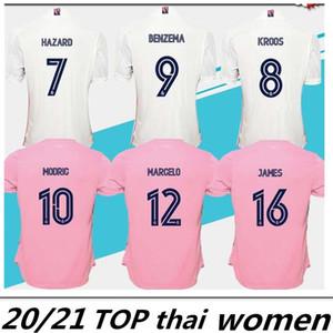 Las mujeres de los jerseys 2020 de Real Madrid # 7 # 11 PELIGRO BALA Fútbol 2021 camisetas de fútbol femeninos personalizados Uniformes de fútbol a la venta las mujeres