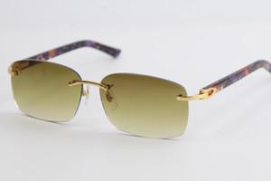 Mejor cosecha de venta gafas de sol de las gafas de sol unisex sin marco cuadrado pequeño marco retro moderno y vanguardista diseño UV400 gafas 9200759