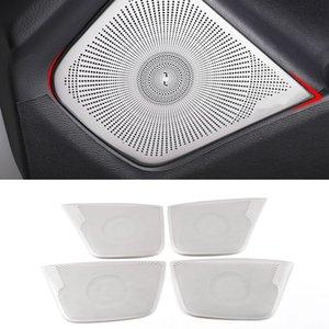 Для Mercedes-Benz CLA C117 2016-2018 автомобильная дверь громкоговоритель звук хромированная накладка динамик крышка отделка рамка наклейка аксессуары для интерьера