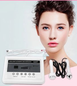 2in1 Ultrasonic Facial Machine Skin Care High Frequency Ultrasound Skin Tightening Anti Wrinkle Massager Salon Beauty Device 628T