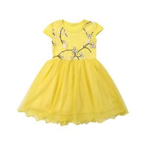 vestito dal bambino principessa di estate abito senza maniche nuovi bambini maglia di pizzo indossare abiti bambina da bambino di moda