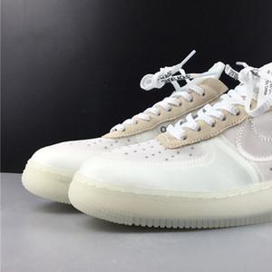 OW Off White x Hombres aire forzado 1 bajo A04606-100 1s mujeres de los zapatos de baloncesto zapatillas deportivas retrocesos de la mejor calidad con la caja original