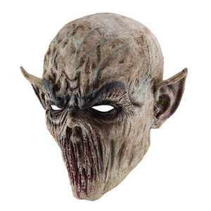 C / Miracle Scary Halloween Alien Zombie Mask Devil Mask Masquerade Cosplay Dance Party Biochemical Caps Mask R0639