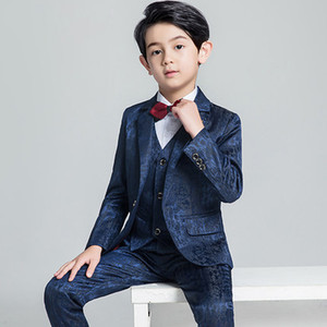 Kids Wedding Suit Blazer Boys Suits Formal Single Button Solid Suit For Kids 1Set Formal Children's Costume Tuxedos Z934