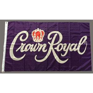 Crown Royal Flag 90 x 150 cm poliestere Blended Whisky vino Pubblicità Banner Indoor Banner Outdoor