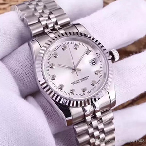 Femmes Montre Diamant Mouvement Automatique Montres Dames Montre Montre Jour Day Montres Just Style Clock 316L En Acier Inoxydable Saphir 36mm Cadran Vente